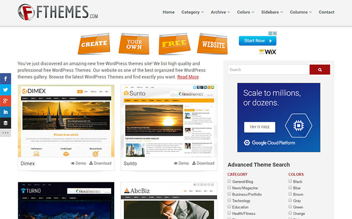 fthemes free themes download